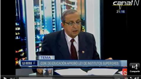 Entrevista a Daniel Mora sobre proyecto de Ley de Institutos y Escuelas de Educación Superior