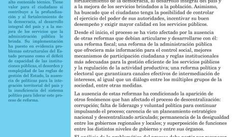 4 recomendaciones de la Nota de Política Pública de Descentralización – IEP
