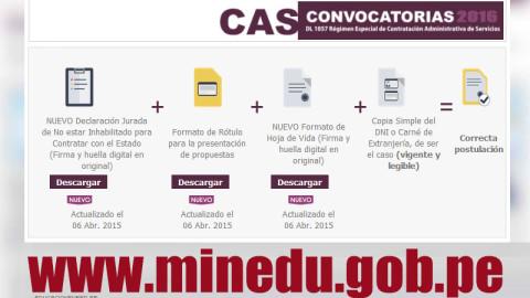 MINEDU: Convocatoria CAS Enero 2016 (137 Puestos de Trabajo en el Ministerio de Educación)