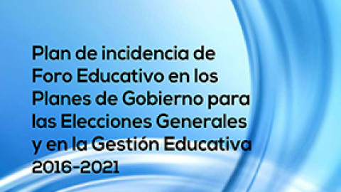 Plan de Incidencia de Foro Educativo en los Planes de Gobierno