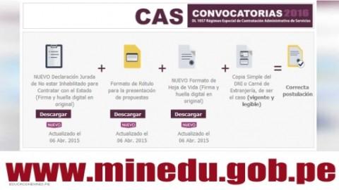 Convocatoria CAS Marzo 2016 (182 Puestos de Trabajo en el Ministerio de Educación)