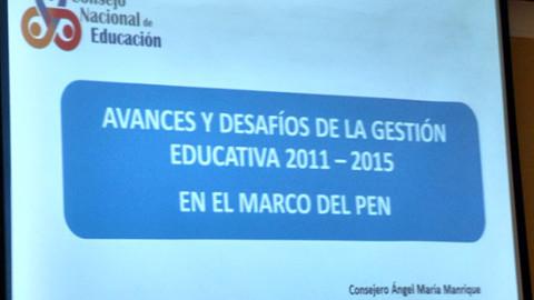 CNE presenta octavo balance del Proyecto Educativo Nacional