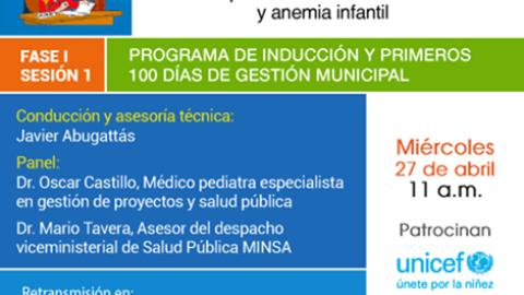 Curso Virtual: ¿Qué debo hacer como alcalde o regidor para combatir la anemia infantil?