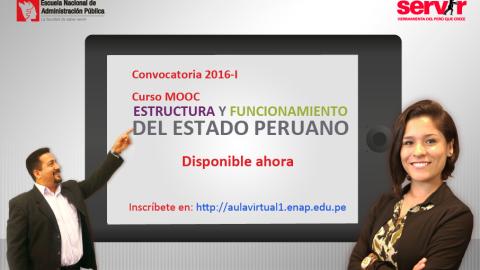 SERVIR Curso en línea: Estructura y funcionamiento del estado peruano. –