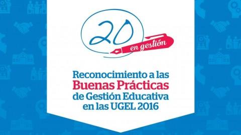 """Recordatorio: """"I Concurso de Buenas Prácticas de Gestión en las UGEL"""""""