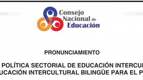 CNE se pronuncia por una pronta aprobación de la Política Sectorial de Educación Intercultural y de EIB