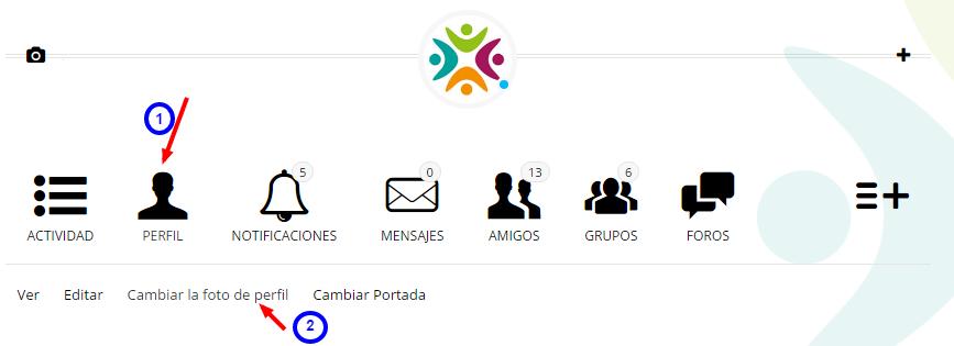 Cambiar la foto de perfil   Perfil   Administrador   Edugestores