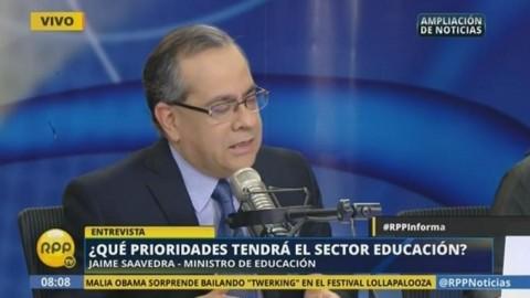 Entrevista: Ministro de Educación Jaime Saavedra