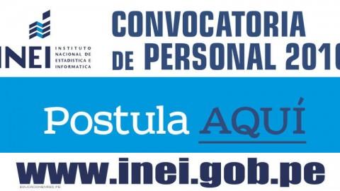 INEI Convoca a más de mil Profesionales y Estudiantes a Nivel Nacional (S/. 3,400.00 – 2,700.00 – 1,800.00 Mensual)