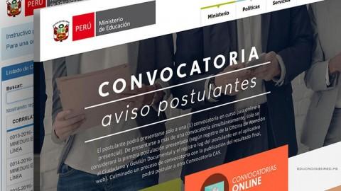 CONVOCATORIAS CAS – MINEDU