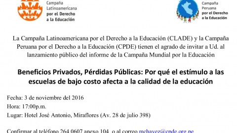 Encuentro sobre privatización de la educación de cara al Examen Periódico Universal (EPU)