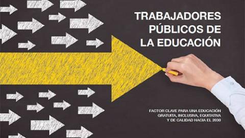 Debate de trabajadores públicos de la educación es recopilado en documento editado con el apoyo de la UNESCO