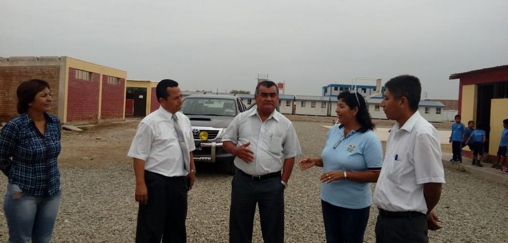 Visita a I.E. Carlos A. Salaverry