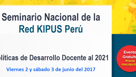 Se realizará seminario sobre políticas de desarrollo docente de la red Quipus Perú