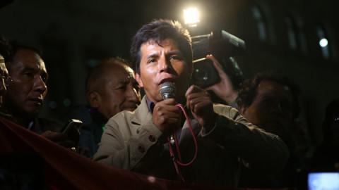 Dirigente Castillo pedirá al Congreso que se derogue la Ley de Reforma Magisterial