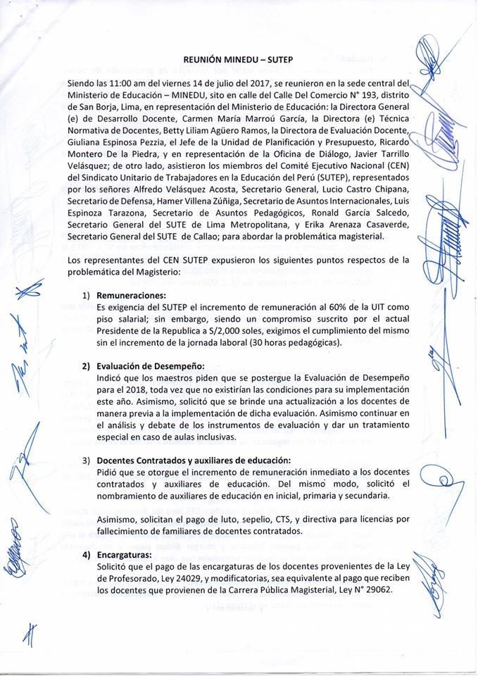 Acta MINEDU y SUTEP CEN - 14 de julio (1)