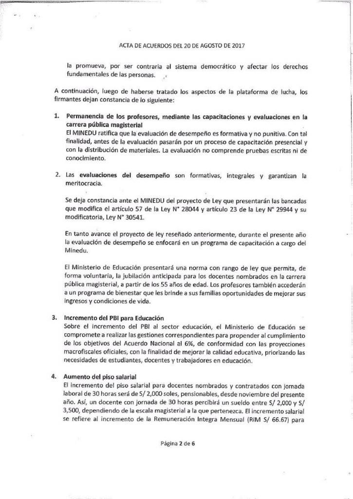 Pre acta MINEDU, Congresistas y Comites de Lucha - 20 de agosto (2)