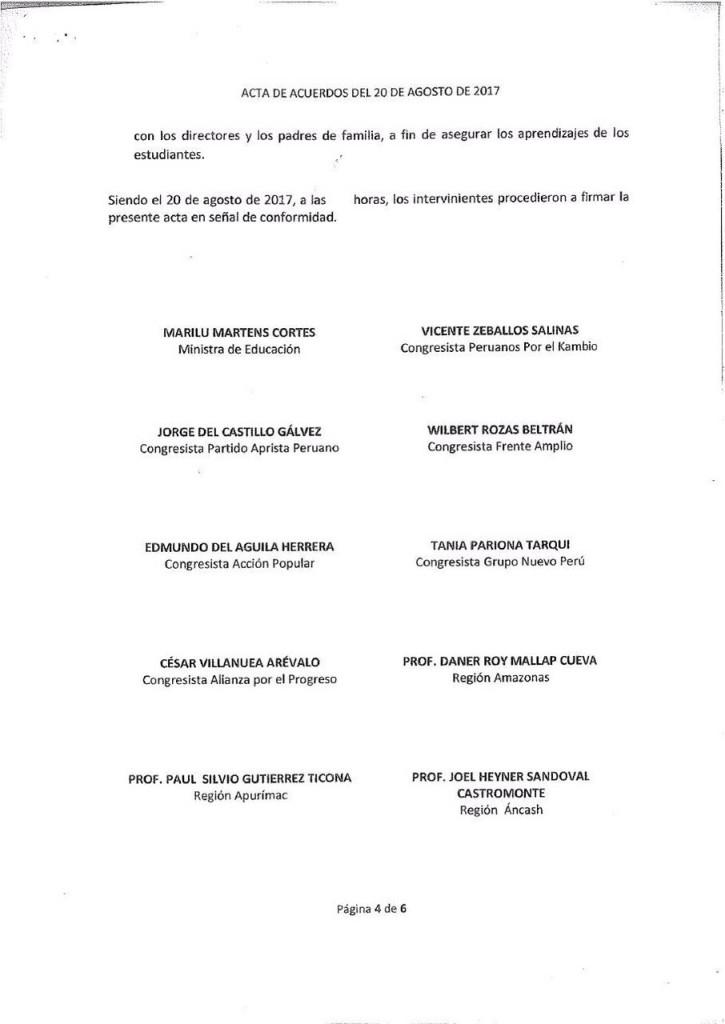 Pre acta MINEDU, Congresistas y Comites de Lucha - 20 de agosto (4)