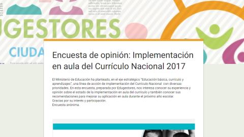 Participa en nuestra encuesta sobre la implementación del Currículo Nacional