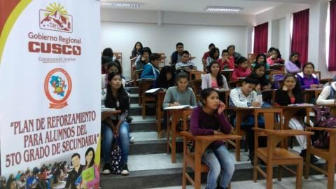 Cusco: desarrollan plan de reforzamiento académico para estudiantes de quinto de secundaria
