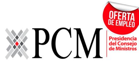 Bolsa de trabajo: Convocatoria en PCM en temas de descentralización