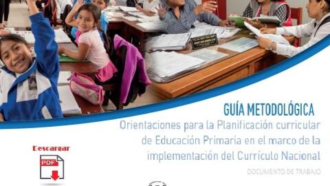 Orientaciones para la planificación curricular de educación primaria en el marco de la implementación del Currículo Nacional 2019