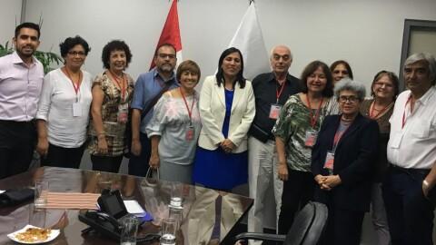 Colectivos de sociedad civil se reunieron con ministra de Educación Flor Pablo