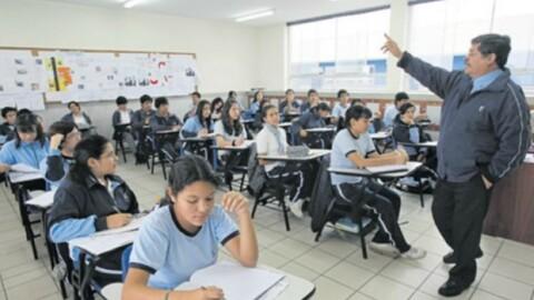El 9% de docentes peruanos tiene menos de 30 años
