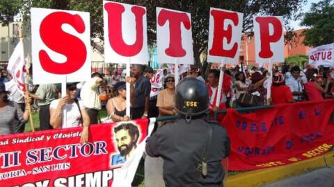 SUTEP anuncia paro nacional para el 21 de noviembre