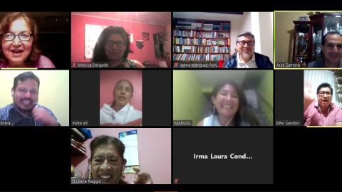 Edugestores de Lima Metropolitana analizan desafíos de Aprendo en Casa