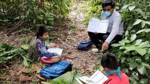 Madre de Dios: Profesores acuden a casas de alumnos matsinguekas para que no pierdan clases