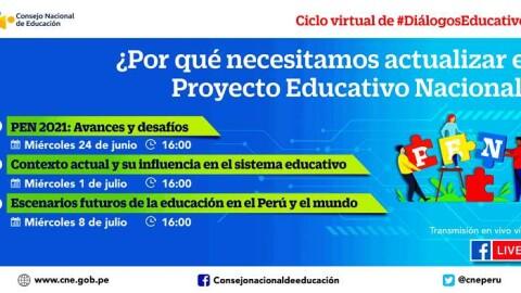 CNE realizará ciclo de diálogos sobre la importancia del Proyecto Educativo Nacional para las políticas públicas
